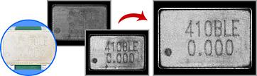 電子部品の文字認識
