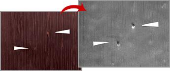 化粧合板の表面検査