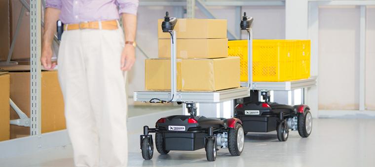 頼りになる自動追従運搬ロボット サウザー
